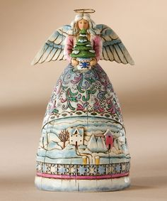 Take a look at this Winter Angel Figurine by Jim Shore on #zulily today!
