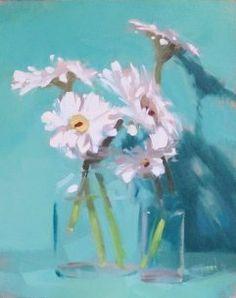 An Original Fine Art Gallery by Daily Paintworks Small Paintings, Flower Paintings, Painting Flowers, Abstract Paintings, Art Paintings, Abstract Art, Helen Cooper, Celadon, Still Life Art