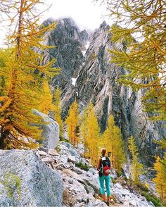 "Wilderness Babes auf Instagram: ""Fall has arrived in The Enchantments! @alohagail  @ryanintheus #wildernessbabes"""