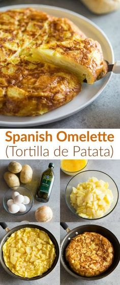 Tortilla de Patatas via Tortilla de Patatas (also known as Spanish Omelette or tortilla de papas) is an easy Spanish recipe made with potatoes, onion, eggs, salt, and oil. Easy Spanish Recipes, Mexican Food Recipes, Omelettes, Tortillas, Spanish Omelette, Spanish Dishes, Spanish Meals, International Recipes, Love Food