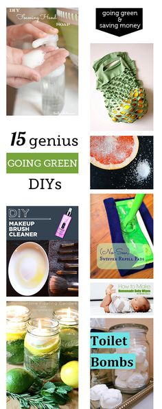 DIY cleaners and beauty products that will save me money, keep toxins out of the house, and help the environment?  Yes, please.  I'm loving this roundup Kristin put together for us.  Now I just have to decided what to make this weekend – foaming hand wash, a few two-ingredient spa treatments, toilet bombs, or all …