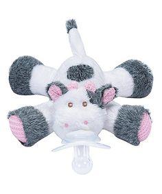 "Look at this #zulilyfind! Cutsie Cow Paci-Plushies Buddies #zulilyfinds @ toysrus ""wubbanub"" and ""cozy coos"""
