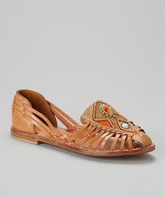 Look at this CL by Laundry Natural Nandi Leather Flat on #zulily today!
