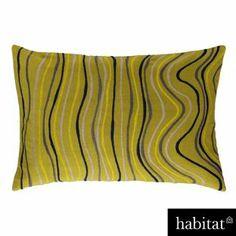 Habitat - Trimble 40 x 60cm Embroidered Cushion Green from Homebase.co.uk