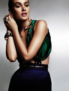 Leighton Meester in L'Officiel China. Love the rich color
