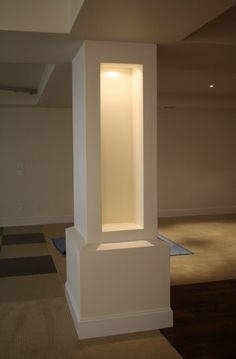 Hide Unsightly Support Beams With Trim Dream Home Pinterest - Basement pole columns covers
