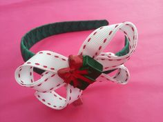 Boutique bow alice band with a present :) cute for Christmas