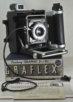 2126c77f0633 Graflex Century Graphic 2x3 Camera w  Kodak Ektar 101mm f4.5 Lens Original  Box