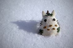 2081. Totoro Snowman. Happy holidays :D