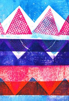 Press print and digital triangles - Sarah Bagshaw