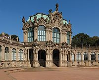 Rococo -Zwinger in Dresden, Germany
