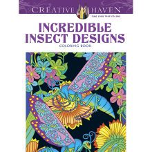 + free patterns Creative Haven Incredible Insect Designs Coloring Book