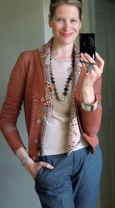 Spring scarf (De Madras à Zakynthos by Hermès)