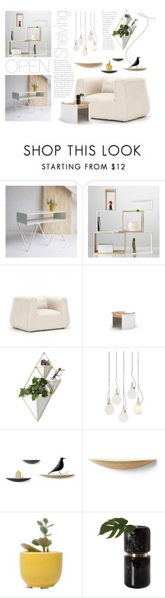 """""""Open shelving. Contest entry."""" by rugile-pp ❤ liked on Polyvore featuring interior, interiors, interior design, home, home decor, interior decorating, Muuto, Zentique, Universo Positivo and Umbra"""