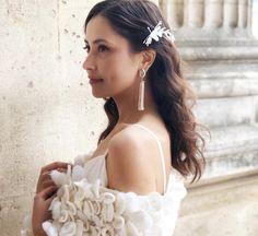 White shawl #shawl #finnishdesign #luxury #handmade White Shawl, Drop Earrings, Luxury, Handmade, Fashion Design, Hand Made, Chandelier Earrings, Drop Earring