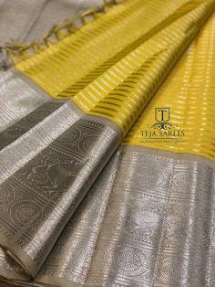 Kanjivaram Sarees Silk, Indian Silk Sarees, Ethnic Sarees, Kanchipuram Saree, Pure Silk Sarees, Teja Sarees, Saree Color Combinations, Saree Tassels, Saree Wedding