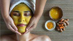 Home Remedies For Acne, Acne Remedies, Natural Remedies, Facial Hair, Facial Masks, Face Facial, Diy Turmeric Face Mask, Tumeric Face, Turmeric Juice