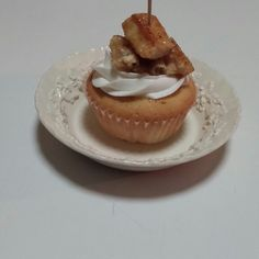 Chicken and waffles cupcake.  By Serenity Gifts Kennedi Cakes.