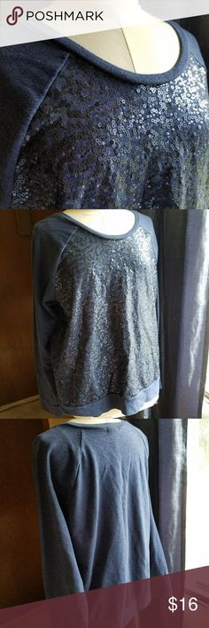 Sequin front Sweatshirt Cozy and fabulous! Sequin front, generous neck opening, and soft inside. Old Navy Tops Sweatshirts & Hoodies