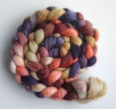 Silk/ Blueface Leicester Wool Roving Top  by threewatersfarm, $22.95