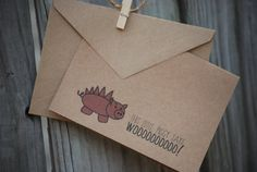 """This little piggy says WOOOOO!"" notecards. Go Hogs!"