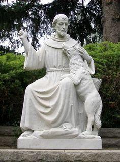 St Francis and the Wolf Catholic Art, Catholic Saints, Patron Saints, St Francis Assisi, Saint Francis, Pope Francis, Patron Saint Of Animals, St Clare's, Miracle Prayer