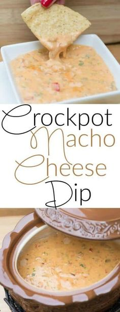 Crockpot Nacho Cheese Dip Sauce - perfect easy appetizer for a crowd
