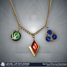 Ocarina of Time Spiritual Stones Chain Necklace $59.99