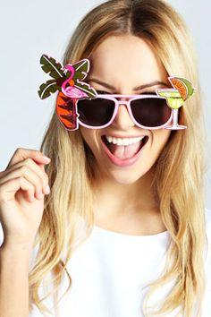 Ava Flamingo  Cocktail Novelty Sunglasses