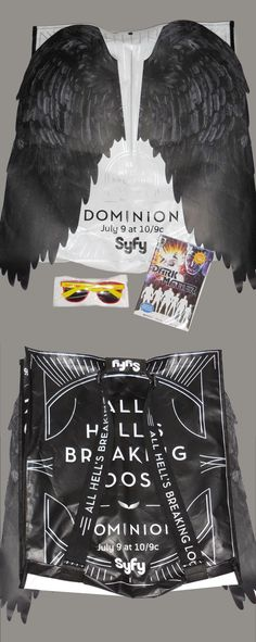 Cancelled Syfy show Dominion promotion bag. Press Kits, Package Design, Promotion, Packaging, Bag, Packaging Design, Wrapping, Design Packaging, Bags