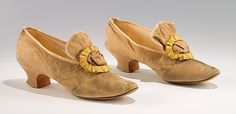 Evening Shoes 1890, American, Made of leather