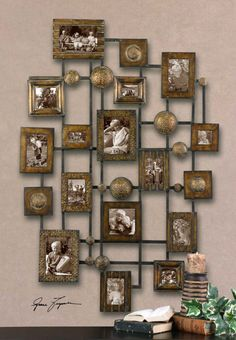 Love this for anywhere in the house. This is an example of sepia tone prints--this would also look amazing over your fireplace in your bedroom as well--another way to honor your family with a fun photo collage.