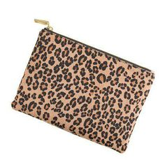 J.Crew calf hair pouch. I have calf hair wedges in the same leopard print - must have this clutch!