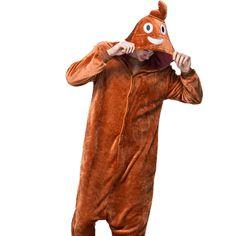844b1222e0 Emoji Poop Adult Autumn Winter Unisex Flannel Hooded Pajamas Halloween  Costume  OnePiece Emoji Onesie