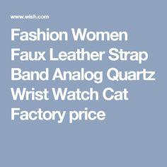 Fashion Women Faux Leather Strap Band Analog Quartz Wrist Watch Cat Factory price