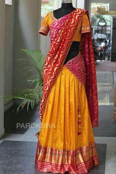 Half Saree Lehenga, Lehenga Choli Online, Saree Dress, Kids Lehenga, Lehenga Blouse, Anarkali, Half Saree Designs, Lehenga Designs, Blouse Designs