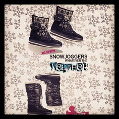 Jog on what ever the weather with Snowjoggers from @kindredsole #winterstyle #style #shoestagram #snowjoggers #snowboots #shoes