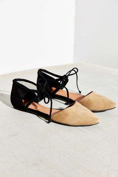 Jeffrey Campbell lace-up flats