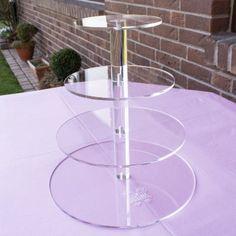4-stöckiger Tortenständer Tortenetagere aus kristallklarem Acryl