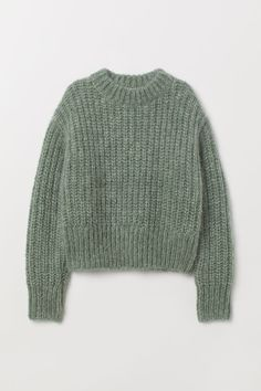 Chunky-knit jumper in a soft wool and mohair blend with a stand-up collar, dropped shoulders, long sleeves and ribbing at the cuffs and hem. Sweater Outfits, Casual Outfits, Cute Outfits, Sweater Fashion, Look Fashion, Fashion Outfits, Fashion Weeks, Fashion 2020, Paris Fashion