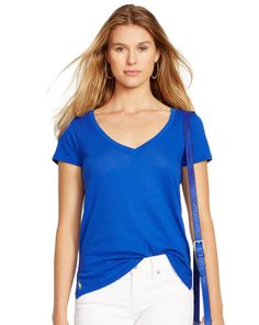 Cotton Jersey V-Neck Tee - Polo Ralph Lauren Short-Sleeve - RalphLauren.com
