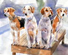 Hey, I found this really awesome Etsy listing at https://www.etsy.com/listing/170197438/penn-marydel-hound-dogs-art-foxhunt