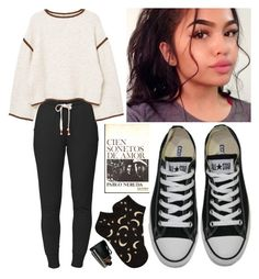 """""""sandcastles"""" by rund3vil ❤ liked on Polyvore featuring Lija, MANGO, Converse, Forever 21, equipo and Pablo"""