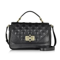 DVF cross body bag 440 Gallery Transit Quilted Black Leather Mini Bag crafted in soft leather with quilted detail is practical with a modern chic design easily going from day to evening. Featuring flap top twist lock closure with single top handle exterior slip pocket adjustable shoulder strap internal slip pocket and gold tone hardware detail. Signature dust bag included. Diane von Furstenberg Bags Crossbody Bags
