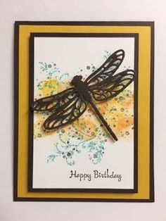 My Creative Corner!: Dragonfly Dreams, Timeless Textures, You're Inspiring, Birthday Card, Stampin' Up!, Rubber Stamping, Handmade Cards