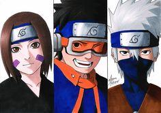 Otaku Anime, Anime Naruto, Fan Art Naruto, Naruto Shippuden Sasuke, Kakashi And Obito, Boruto, Anime Chibi, Manga Anime, Fanart
