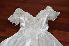 Jessica McClintock Bridal Wedding Gown Dress  SZ 10 M Vintage White Queen
