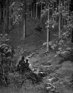 DORÉ, Gustave (1832-1883) Illustration for Ludovico Ariosto's Orlando Furioso engraving Ed. Orig. Lic. Ed.
