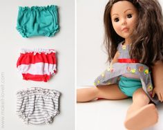 Make Your Own Dolly Panties (pattern piece included): a great addition to have for your girl's doll and make extras.   www.makeit-loveit.com