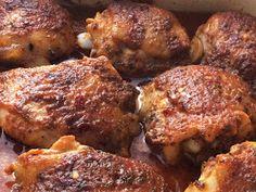 Udka kurczaka pieczone w majonezie i ketchupie